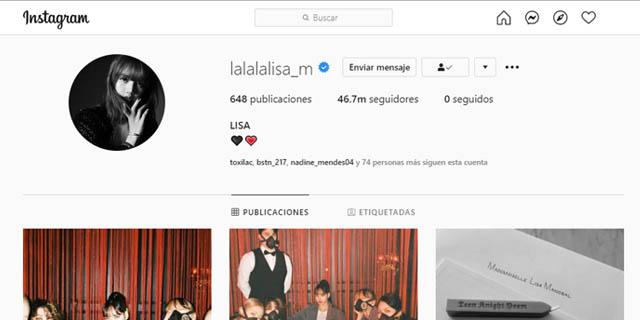 Lisa de Blackpink instagram