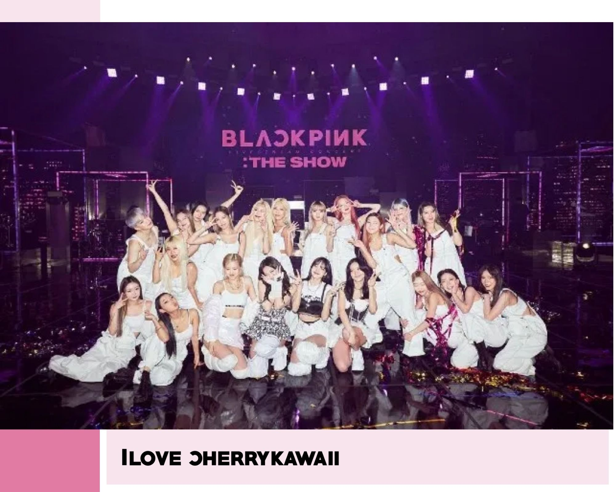 BLACKPINK Rose Jennie Lisa y Jisoo final de The show