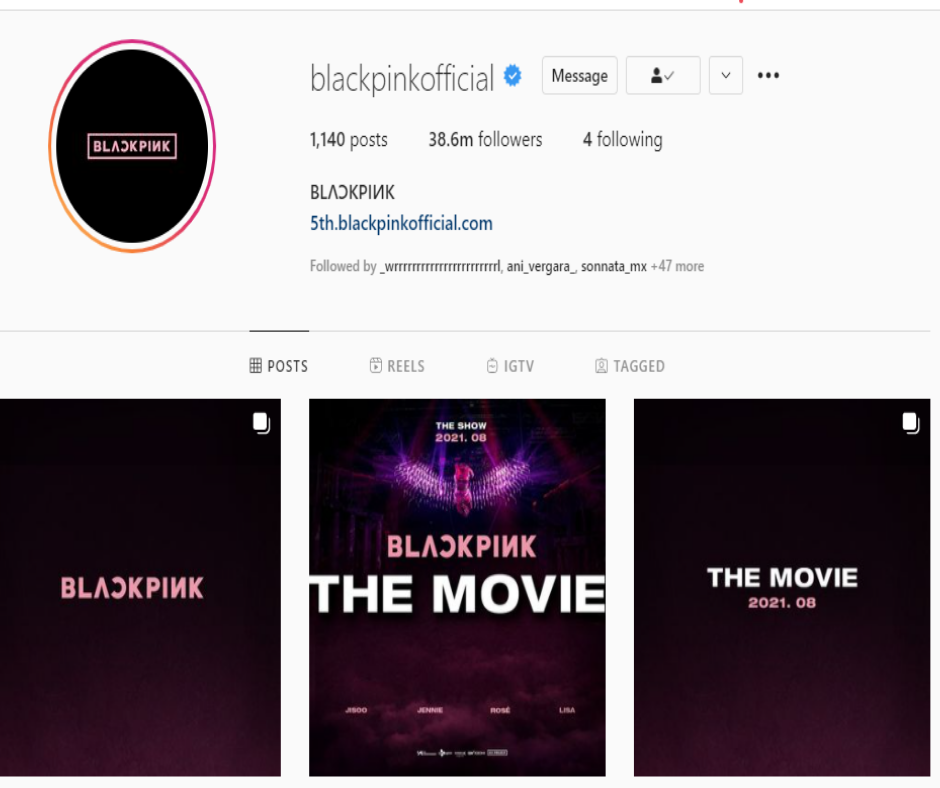 Blackpink The Movie post
