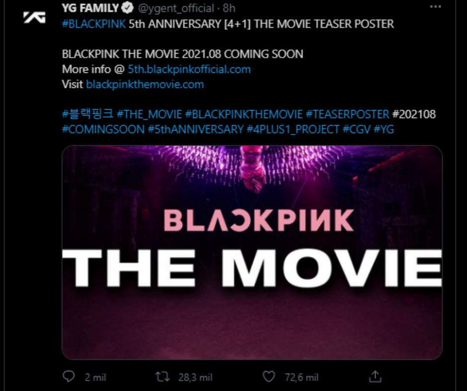 Blackpink The Movie tweet