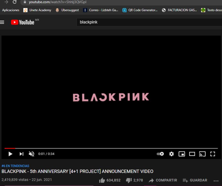 Blackpink+blink youtube