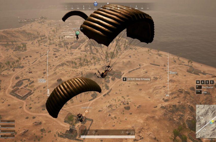 PUBG Battlegrounds paracaídas