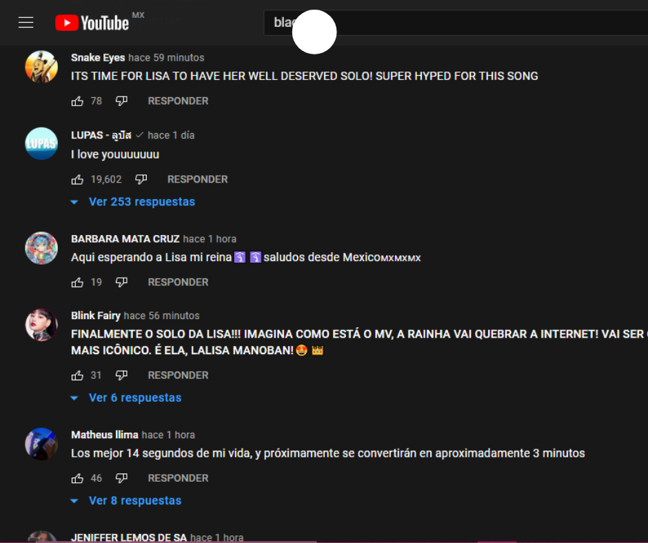 LALISA comentarios